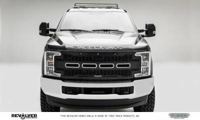 T-REX GRILLES - 2017-2019 Super Duty Revolver Grille, Black, 1 Pc, Replacement, Chrome Studs, Does Not Fit Vehicles with Camera - PN #6515711 - Image 2