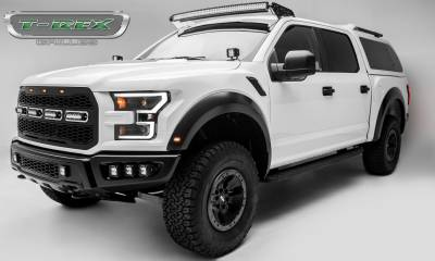 T-REX GRILLES - 2017-2021 F-150 Raptor SVT Revolver Grille, Black, 1 Pc, Replacement, Chrome Studs with (4) 6 Inch LEDs, Fits Vehicles with Camera - PN #6515671 - Image 8
