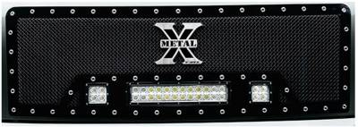 "T-REX GRILLES - 2013-2014 F-150 Torch Grille, Black, 1 Pc, Insert, Chrome Studs with (2) 3"" LED Cubes and (1) 12"" LEDs - PN #6315721 - Image 2"