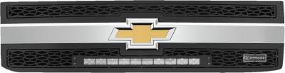 "2015-2019 Silverado 2500, 15-17 3500 ZROADZ Grille, Black, 2 Pc, Insert, Incl. (1) 20"" LED - PN #Z311221 - Image 2"