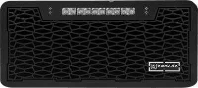 "T-REX GRILLES - 2007-2018 Jeep JK, JKU ZROADZ Grille, Black, 1 Pc, Insert with (1) 10"" LED - PN #Z314831-10T - Image 2"