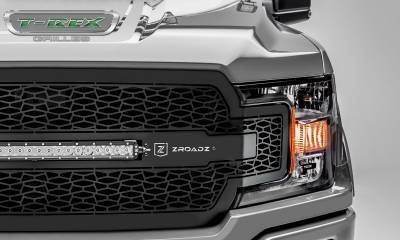 "T-REX GRILLES - 2018-2020 F-150 ZROADZ Grille, Black, 1 Pc, Replacement, Incl. 20"" LED - PN #Z315711 - Image 3"