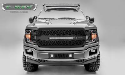 "T-REX GRILLES - 2018-2020 F-150 ZROADZ Grille, Black, 1 Pc, Replacement, Incl. 20"" LED - PN #Z315711 - Image 1"