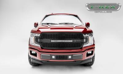 "T-REX GRILLES - 2018-2020 F-150 ZROADZ Grille, Black, 1 Pc, Replacement, Incl. 20"" LED - PN #Z315711 - Image 4"