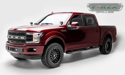 T-REX GRILLES - 2018-2020 F-150 Revolver Grille, Black, 1 Pc, Replacement, Chrome Studs with (4) 6 Inch LEDs, Does Not Fit Vehicles with Camera - PN #6515841 - Image 7
