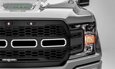 T-REX GRILLES - 2018-2020 F-150 Revolver Grille, Black, 1 Pc, Replacement, Chrome Studs - PN #6515851 - Image 3