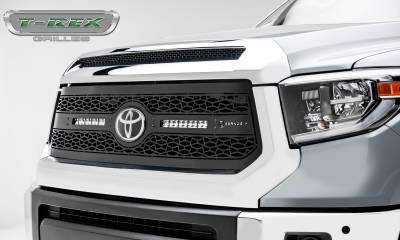 "T-REX GRILLES - 2018-2019 Tundra ZROADZ Grille, Black, 1 Pc, Replacement, Incl. (2) 10"" LEDs - PN #Z319661 - Image 2"