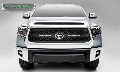 "T-REX GRILLES - 2018-2021 Tundra ZROADZ Grille, Black, 1 Pc, Replacement with (2) 10"" LEDs - PN #Z319661 - Image 4"