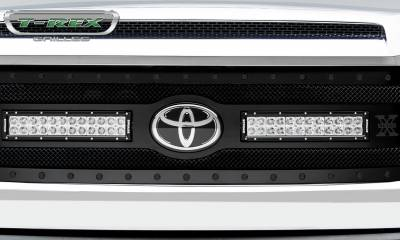 """T-REX GRILLES - 2018-2019 Tundra Stealth Torch Grille, Black, 1 Pc, Replacement, Black Studs, Incl. (2) 12"""" LEDs - PN #6319661-BR - Image 3"""