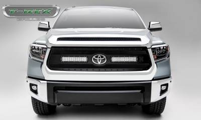 """T-REX GRILLES - 2018-2019 Tundra Stealth Torch Grille, Black, 1 Pc, Replacement, Black Studs, Incl. (2) 12"""" LEDs - PN #6319661-BR - Image 2"""