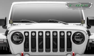 "2018-2019 Jeep JL, JLU Torch Grille, Black, 1 Pc, Insert, Incl. (7) 2"" LED Round Lights - PN #6314941 - Image 4"