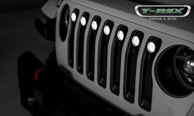 "2018-2019 Jeep JL, JLU Torch Grille, Black, 1 Pc, Insert, Incl. (7) 2"" LED Round Lights - PN #6314941 - Image 6"