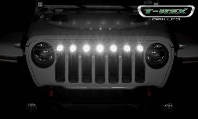 "2018-2019 Jeep JL, JLU Torch Grille, Black, 1 Pc, Insert, Incl. (7) 2"" LED Round Lights - PN #6314941 - Image 5"