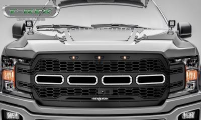 T-REX GRILLES - 2018-2020 F-150 Revolver Grille, Black, 1 Pc, Replacement Fits Vehicles with Camera - PN #6515781 - Image 2