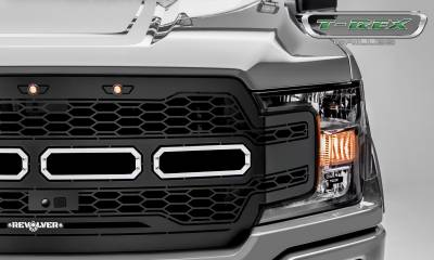 T-REX GRILLES - 2018-2020 F-150 Revolver Grille, Black, 1 Pc, Replacement Fits Vehicles with Camera - PN #6515781 - Image 3