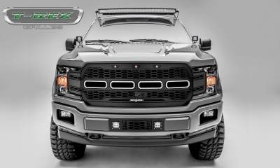 T-REX GRILLES - 2018-2020 F-150 Revolver Grille, Black, 1 Pc, Replacement Fits Vehicles with Camera - PN #6515781 - Image 1