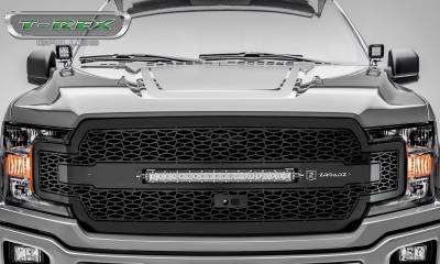 T-REX GRILLES - 2018-2020 F-150 ZROADZ Grille, Black, 1 Pc, Replacement, Incl. 20 Inch LED, Fits Vehicles with Camera - PN #Z315811 - Image 2
