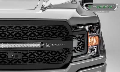 T-REX GRILLES - 2018-2020 F-150 ZROADZ Grille, Black, 1 Pc, Replacement, Incl. 20 Inch LED, Fits Vehicles with Camera - PN #Z315811 - Image 3