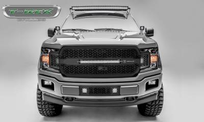 T-REX GRILLES - 2018-2020 F-150 ZROADZ Grille, Black, 1 Pc, Replacement, Incl. 20 Inch LED, Fits Vehicles with Camera - PN #Z315811 - Image 1