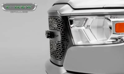 "T-REX GRILLES - 2019-2021 Ram 1500 Laramie, Lone Star, Big Horn, Tradesman ZROADZ Grille, Black, 1 Pc, Replacement with (1) 20"" LED - PN #Z314651 - Image 4"