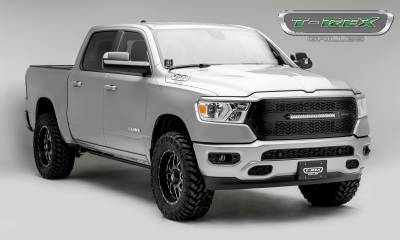 "T-REX GRILLES - 2019-2021 Ram 1500 Laramie, Lone Star, Big Horn, Tradesman ZROADZ Grille, Black, 1 Pc, Replacement with (1) 20"" LED - PN #Z314651 - Image 7"