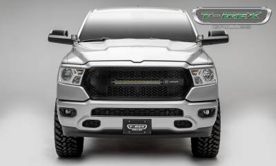 "T-REX GRILLES - 2019-2021 Ram 1500 Laramie, Lone Star, Big Horn, Tradesman ZROADZ Grille, Black, 1 Pc, Replacement with (1) 20"" LED - PN #Z314651 - Image 3"