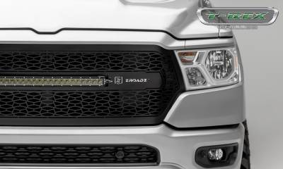 "T-REX GRILLES - 2019-2021 Ram 1500 Laramie, Lone Star, Big Horn, Tradesman ZROADZ Grille, Black, 1 Pc, Replacement with (1) 20"" LED - PN #Z314651 - Image 5"