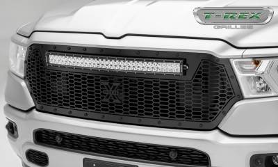 "2019 Ram 1500 Laramie, Lone Star, Big Horn, Tradesman Stealth Laser Torch Grille, Black, 1 Pc, Replacement, Black Studs, Incl. (1) 30"" LED - PN #7314651-BR - Image 1"