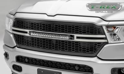 """2019 Ram 1500 Laramie, Lone Star, Big Horn, Tradesman Laser Torch Grille, Black, Brushed, 1 Pc, Replacement, Incl. (1) 20"""" LED - PN #7314651-T - Image 1"""