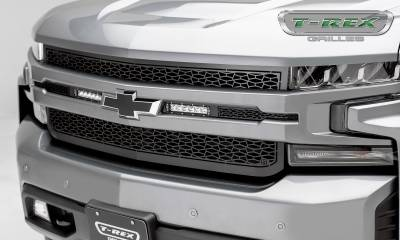 "T-REX GRILLES - 2019-2020 Silverado 1500 ZROADZ Grille, Black, 1 Pc, Replacement, Incl. (2) 6"" LEDs - PN #Z311261 - Image 1"