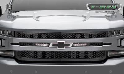 "T-REX GRILLES - 2019-2020 Silverado 1500 ZROADZ Grille, Black, 1 Pc, Replacement, Incl. (2) 6"" LEDs - PN #Z311261 - Image 2"
