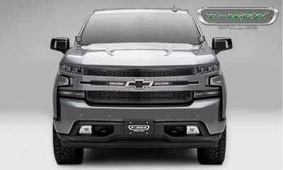 "T-REX GRILLES - 2019-2020 Silverado 1500 ZROADZ Grille, Black, 1 Pc, Replacement, Incl. (2) 6"" LEDs - PN #Z311261 - Image 3"