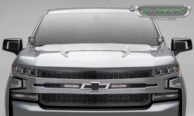 "T-REX GRILLES - 2019-2020 Silverado 1500 ZROADZ Grille, Black, 1 Pc, Replacement, Incl. (2) 6"" LEDs - PN #Z311261 - Image 4"