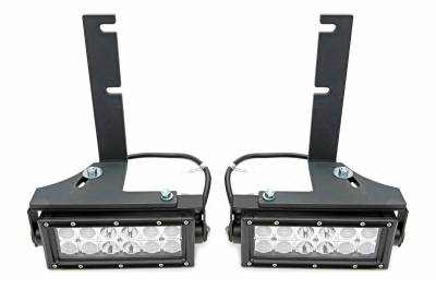 2015-2019 Colorado, Canyon Rear Bumper LED Kit, Incl. (2) 6 Inch LED Straight Double Row Light Bars - PN #Z382671-KIT - Image 3