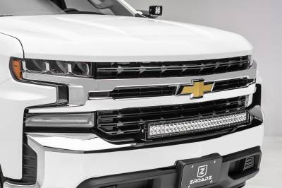 2019 Chevrolet Silverado 1500 Front Bumper Top LED Kit, Incl. (1) 30 Inch LED Curved Double Row Light Bar - PN #Z322282-KIT - Image 1
