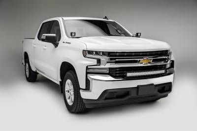 2019 Chevrolet Silverado 1500 Front Bumper Top LED Kit, Incl. (1) 30 Inch LED Curved Double Row Light Bar - PN #Z322282-KIT - Image 2