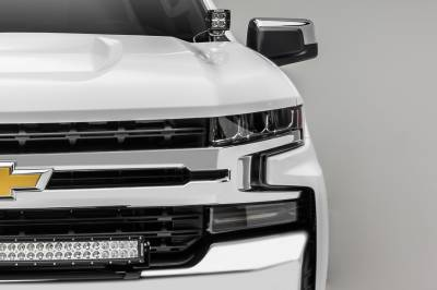 2019 Chevrolet Silverado 1500 Front Bumper Top LED Kit, Incl. (1) 30 Inch LED Curved Double Row Light Bar - PN #Z322282-KIT - Image 4