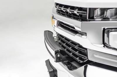 ZROADZ                                             - 2019-2021 Chevrolet Silverado 1500 Front Bumper Top LED Kit with (1) 30 Inch LED Curved Double Row Light Bar - PN #Z322282-KIT - Image 6