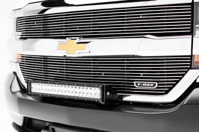 2016-2018 Chevrolet Silverado 1500 Front Bumper Top LED Kit, Incl. (1) 30 Inch LED Straight Double Row Light Bar - PN #Z322082-KIT - Image 2