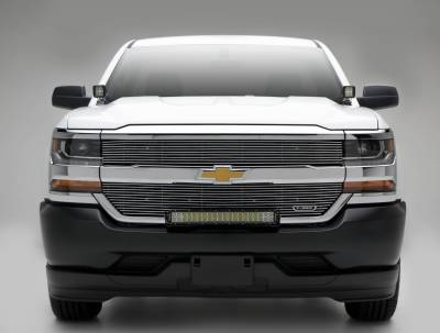 2016-2018 Chevrolet Silverado 1500 Front Bumper Top LED Kit, Incl. (1) 30 Inch LED Straight Double Row Light Bar - PN #Z322082-KIT - Image 3