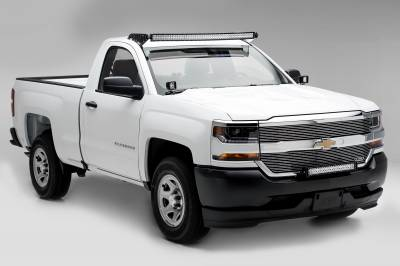 2016-2018 Chevrolet Silverado 1500 Front Bumper Top LED Kit, Incl. (1) 30 Inch LED Straight Double Row Light Bar - PN #Z322082-KIT - Image 5