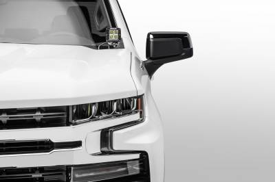 ZROADZ                                             - 2019-2021 Chevrolet Silverado 1500 Hood Hinge LED Kit with (2) 3 Inch LED Pod Lights - PN #Z362181-KIT2 - Image 2