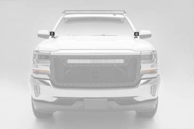 ZROADZ                                             - 2014-2018 Silverado, Sierra 1500 Hood Hinge LED Bracket to mount (2) 3 Inch LED Pod Lights - PN #Z362081 - Image 2