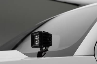 ZROADZ                                             - 2014-2018 Silverado, Sierra 1500 Hood Hinge LED Bracket to mount (2) 3 Inch LED Pod Lights - PN #Z362081 - Image 4