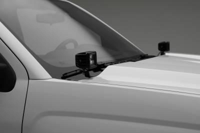 ZROADZ                                             - 2014-2018 Silverado, Sierra 1500 Hood Hinge LED Bracket to mount (2) 3 Inch LED Pod Lights - PN #Z362081 - Image 5