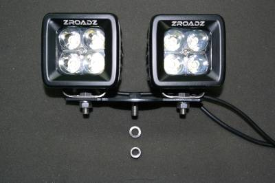 ZROADZ                                             - Hood Hinge Adapter Plate to mount (4) 3 Inch LED Pod Lights to Hood Hinge Bracket - PN #Z360002 - Image 3