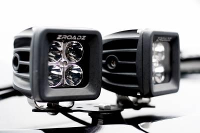 ZROADZ                                             - Hood Hinge Adapter Plate to mount (4) 3 Inch LED Pod Lights to Hood Hinge Bracket - PN #Z360002 - Image 1