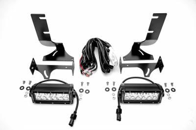 ZROADZ                                             - 2019-2021 Silverado, Sierra 1500 Rear Bumper LED Kit with (2) 6 Inch LED Straight Double Row Light Bars - PN #Z382182-KIT - Image 4