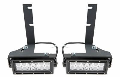 ZROADZ                                             - 2007-2018 Silverado,Sierra 1500 Rear Bumper LED Kit with (2) 6 Inch LED Straight Double Row Light Bars - PN #Z382051-KIT - Image 2