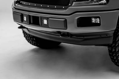 2018-2019 Ford F-150 Lariat, Limited Front Bumper Center LED Kit, Incl. (2) 3 Inch LED Pod Lights - PN #Z325711-KIT - Image 3